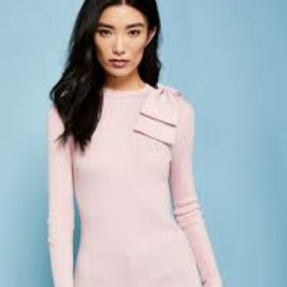 0118f878cee015 Ted Baker Nehru Pink Bow Sweater. M 5c3d6c7c34a4efb07d6b4aed